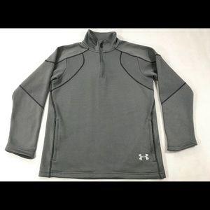 Under Armour Gray Fuego 1/4 Zip Pullover Jacket S